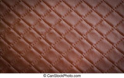 couro, marrom, texture.