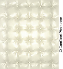 couro, padrão, branca, prata, buttoned