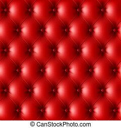 couro, padrão, upholstery, vermelho