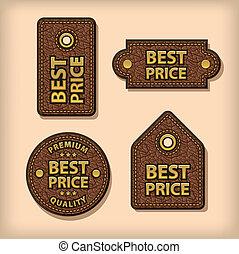 couro, preço, etiquetas, melhor