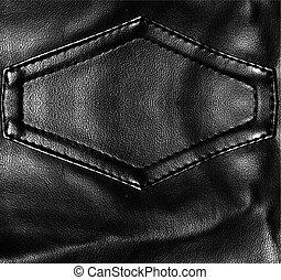couro, pretas, textura