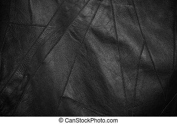 couro preto, fundo