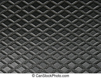 couro preto, textura, para, fundo