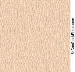 couro, textura, closeup, para, experiência., vetorial