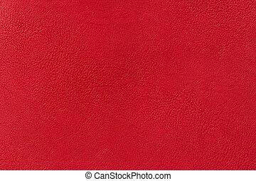 couro, textura, fundo, vermelho