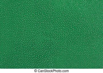 couro, verde, textura