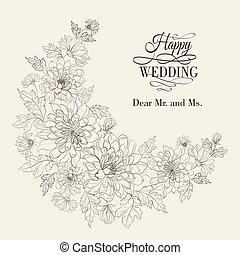 couronne, chrysanthemum., fleur
