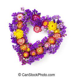 couronne coeur, fleur, formé
