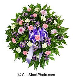 couronne, fleur, coloré, arrangement