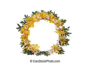 couronne, fleurs