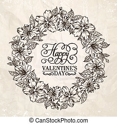 couronne florale, -, valentin, design.