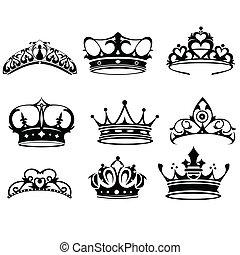 couronne, icônes
