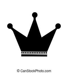 couronne, image, emblème, icône