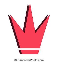 couronne, isolé, icône