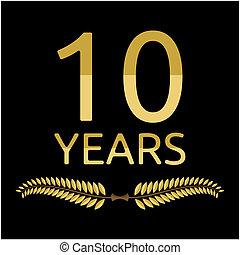 couronne laurier, 10, années