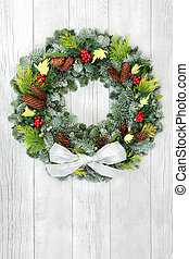 couronne, noël, solstice, hiver