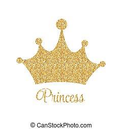 Vecteur Couronne Fond Illustration Princesse Eps10 Couronne