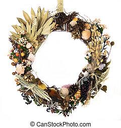 couronne, récolte, forêt, champ, océan