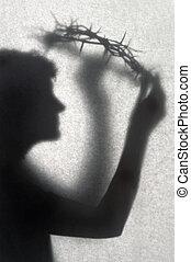 couronne, silhouette, épines