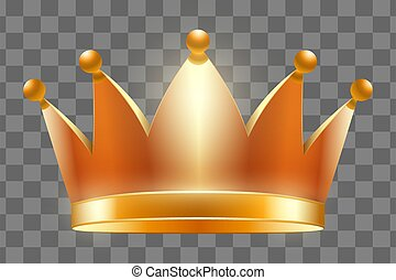 couronne, vecteur, illustration, royal, or