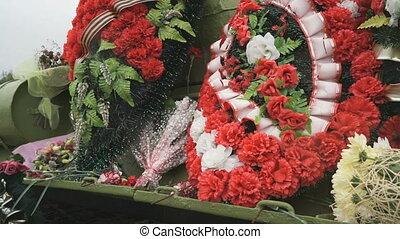 couronnes, commémoratif, rituel, réservoir, obseque