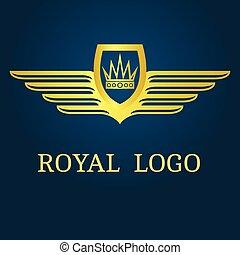 couronnez emblème, ailes