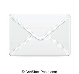 courrier, blanc, vecteur, gabarit