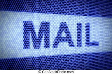 courrier, concept