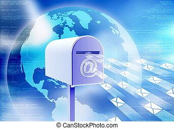 courrier, concept, internet