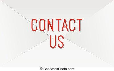 courrier, contact, enveloppe, nous