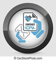 courrier, contrat