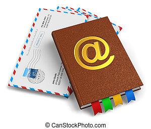 courrier, e-mail, concept, correspondance