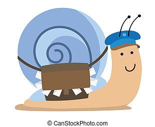 courrier, escargot