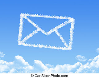 courrier, forme, nuage