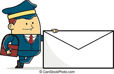 courrier, homme