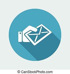courrier, icône