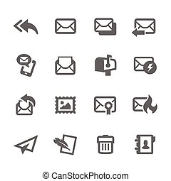 courrier, icônes