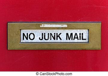 courrier, jonque, non