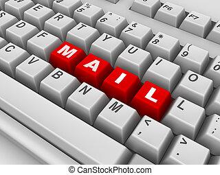 courrier, keyboard.