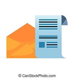courrier, papier, enveloppe, lettre