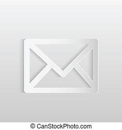 courrier, papier, icône