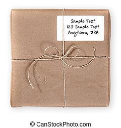 courrier, par, envoyé, expédition, paquet