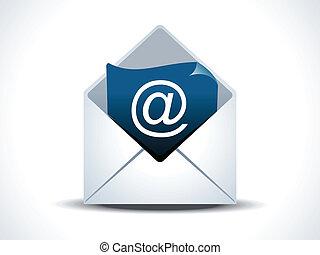 courrier, résumé, icône