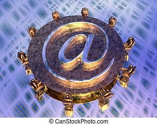 courrier, serveur, fournisseurs