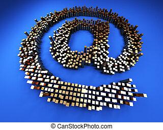 courrier, symbole