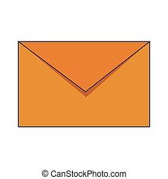 courrier, symbole, enveloppe