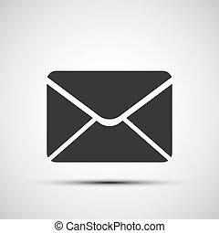 courrier, vecteur, enveloppe