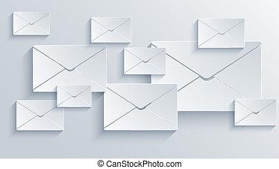 courrier, vecteur, eps10, arrière-plan.
