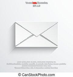 courrier, vecteur, icône