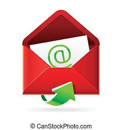 courriers, inbox, icône